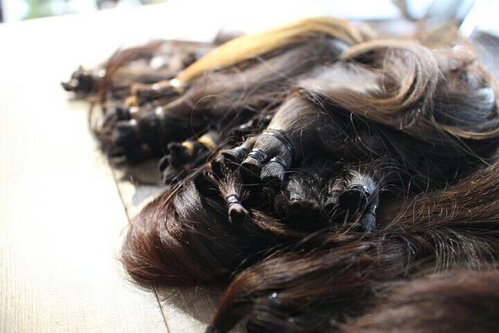 ヘアドネーションで 切らせていただいた髪の毛を送付しました