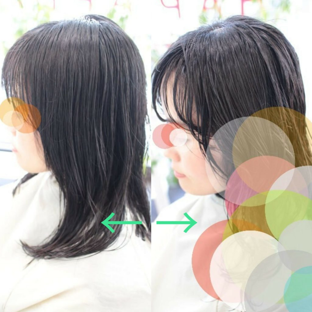 【詳細版 ビフォーアフター】黒髪ミディアムに 取れずらいパーマを♪ ~エアウェーブ編~