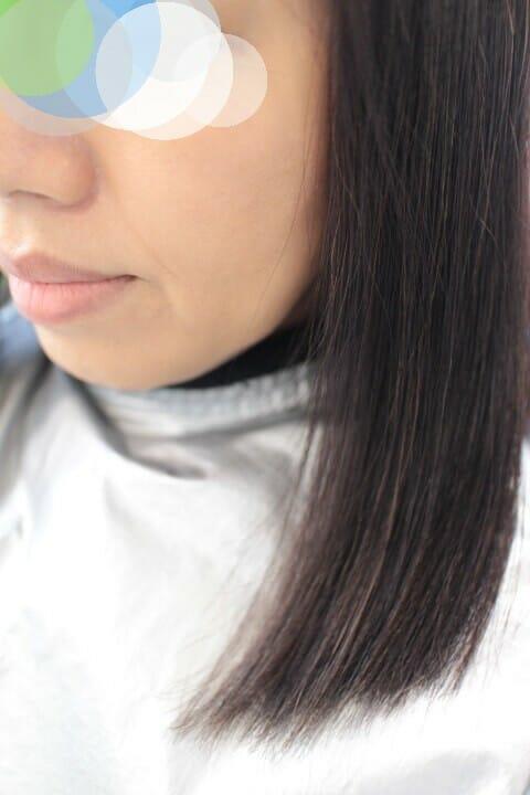 【段のないミディアム(鎖骨の長さ)】縮毛矯正した髪にデジタルパーマでワンカールをドンッ!! 【あるいは 切る以外で縮毛矯正をやめる方法】