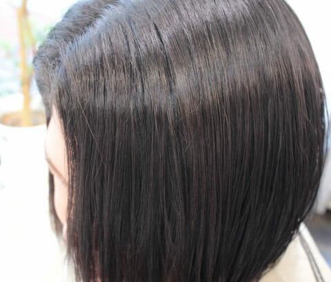 【ボブ】縮毛矯正した髪にデジタルパーマでワンカールをドンッ!! 【あるいは 切る以外の 縮毛矯正をやめる方法】