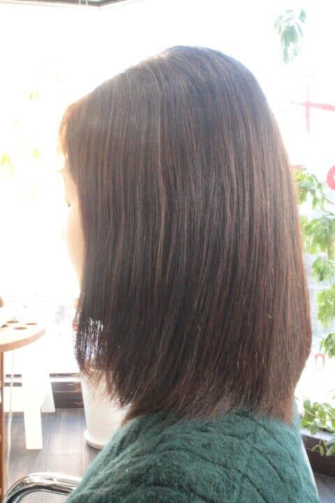 【ミディアム(肩くらい)】縮毛矯正した髪にデジタルパーマでワンカールをドンッ!! 【あるいは 切る以外で縮毛矯正をやめる方法】